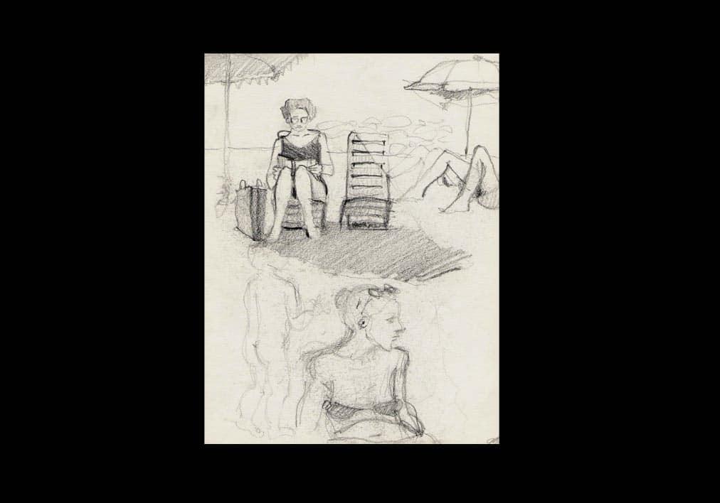 disegni-Marina-di-Carrara-2-bagnanti-2000-copia